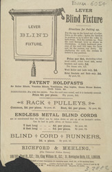 Advert for Richford & Mehling, blinds